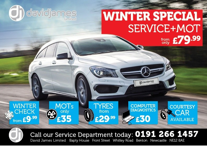 David James Winter Service offer